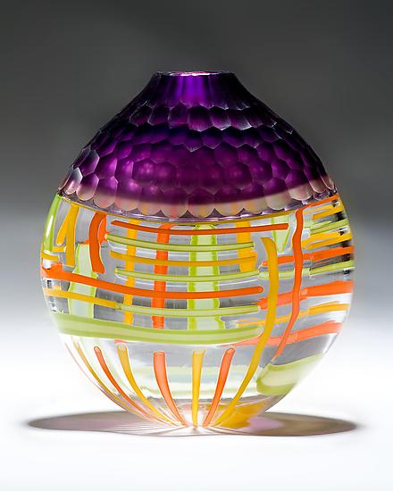 Purple Battuto Vase