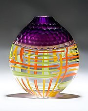 Purple Battuto Vase by Chris McCarthy (Art Glass Vessel)