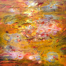 Red-Gold Pool by Stephen Yates (Acrylic Painting)