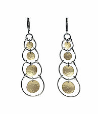 Multi Stirrup Earrings by Lisa Crowder (Gold & Silver Earrings)