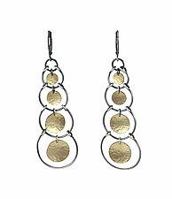 Multi Stirrup Earrings by Lisa Crowder (Gold & Silver Earrings)