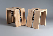 Maple End Table Pair by Alan Powell (Wood Side Tables)