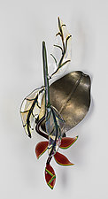 Heliconia Wall Piece by Loy Allen (Art Glass Wall Sculpture)