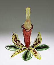Orchid Bottle by Loy Allen (Art Glass Perfume Bottle)