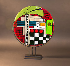 Diner by Vicky Kokolski and Meg Branzetti (Art Glass Sculpture)
