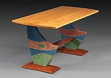 Cantilevered Coffee Table by Mark Del Guidice (Wood Coffee Table)