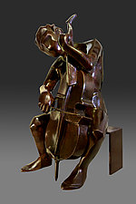 Ode to Johann Sebastian Bach by Dina Angel-Wing (Bronze Sculpture)