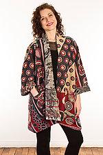 Kantha A-Line Jacket #1 by Mieko Mintz  (Size 1 (6-12), One of a Kind Jacket)
