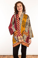 Kantha A-Line Jacket #2 by Mieko Mintz  (Size 0 (0-4), One of a Kind Jacket)