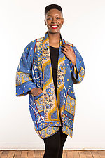 Kantha A-Line Jacket #3 by Mieko Mintz  (Size 2 (14-18), One of a Kind Jacket)