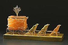 Swallow Carriage by Georgia Pozycinski and Joseph Pozycinski (Art Glass & Bronze Sculpture)
