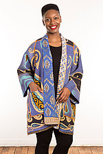 Kantha A-Line Jacket #5 by Mieko Mintz  (Size 2 (14-18), One of a Kind Jacket)