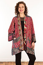 Kantha A-Line Jacket #6 by Mieko Mintz  (Size 1 (6-12), One of a Kind Jacket)
