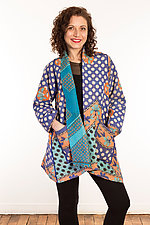 Kantha A-Line Jacket #7 by Mieko Mintz  (Size 0 (0-4), One of a Kind Jacket)