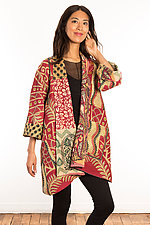 Kantha A-Line Jacket #11 by Mieko Mintz  (Size 1 (6-12), One of a Kind Jacket)