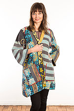 Kantha A-Line Jacket #14 by Mieko Mintz  (Size 1 (6-12), One of a Kind Jacket)
