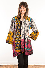 Kantha A-Line Jacket #17 by Mieko Mintz  (Size 1 (6-12), One of a Kind Jacket)