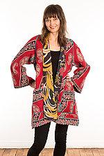 Kantha A-Line Jacket #19 by Mieko Mintz  (Size 1 (6-12), One of a Kind Jacket)