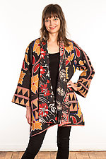 Kantha A-Line Jacket #23 by Mieko Mintz  (Size 1 (6-12), One of a Kind Jacket)