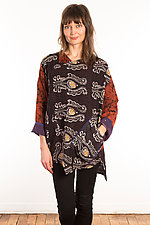 Kantha Bara Bara Top #8 by Mieko Mintz  (Size XS (0-4), One of a Kind Top)