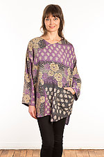 Kantha Bara Bara Top #9 by Mieko Mintz  (Size S (6-8), One of a Kind Top)