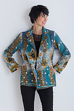 Kantha Simple Jacket #1 by Mieko Mintz  (Size M (10-12), One of a Kind Jacket)