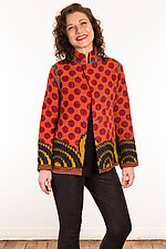 Kantha Simple Jacket #4 by Mieko Mintz  (Size S (6-8), One of a Kind Jacket)