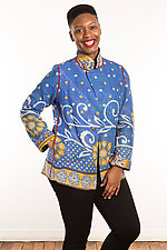Kantha Simple Jacket #5 by Mieko Mintz  (Size L (14-16), One of a Kind Jacket)