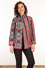 Kantha Simple Jacket #6 by Mieko Mintz  (Size M (10-12), One of a Kind Jacket)