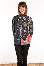 Kantha Simple Jacket #9 by Mieko Mintz  (Size S (6-8), One of a Kind Jacket)