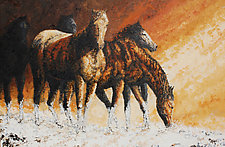 Just Snowy by Ritch Gaiti (Oil Painting)