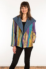 Kantha Fitted Jacket #1 by Mieko Mintz  (Size S (6-8), One of a Kind Jacket)