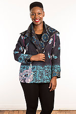 Kantha Fitted Jacket #2 by Mieko Mintz  (Size L (14-16), One of a Kind Jacket)