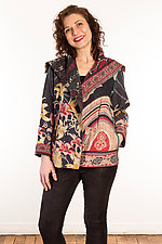 Kantha Fitted Jacket #3 by Mieko Mintz  (Size M (10-12), One of a Kind Jacket)