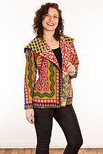 Kantha Fitted Jacket #4 by Mieko Mintz  (Size S (6-8), One of a Kind Jacket)