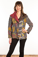 Kantha Fitted Jacket #7 by Mieko Mintz  (Size S (6-8), One of a Kind Jacket)