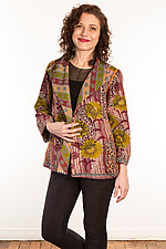 Kantha Short Jacket #1 by Mieko Mintz  (Size M (10-12), One of a Kind Jacket)