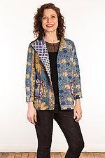 Kantha Short Jacket #3 by Mieko Mintz  (Size S (6-8), One of a Kind Jacket)
