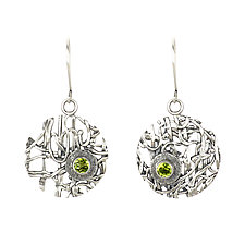 Tangle Lattice Gemstone Earrings by Janet Blake (Silver & Stone Earrings)