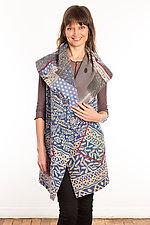 Kantha Circular Vest #2 by Mieko Mintz  (Size 2 (14-18), One of a Kind Vest)