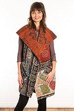 Kantha Circular Vest #3 by Mieko Mintz  (Size 1 (2-12), One of a Kind Vest)