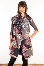 Kantha Circular Vest #6 by Mieko Mintz  (Size 1 (2-12), One of a Kind Vest)
