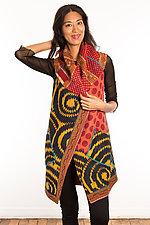 Kantha Circular Vest #7 by Mieko Mintz  (Size 1 (2-12), One of a Kind Vest)