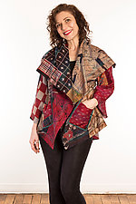 Silk Circular Jacket #1 by Mieko Mintz  (Size 1 (2-16), One of a Kind Jacket)