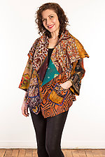 Silk Circular Jacket #2 by Mieko Mintz  (Size 1 (2-16), One of a Kind Jacket)