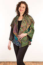 Silk Circular Jacket #3 by Mieko Mintz  (Size 1 (2-16), One of a Kind Jacket)