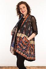 Silk A-Line Vest #4 by Mieko Mintz  (Size 1 (6-12), One of a Kind Vest)