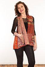 Silk Short Vest #2 by Mieko Mintz  (Size 1 (6-12), One of a Kind Vest)