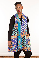 Kantha A-Line Vest #2 by Mieko Mintz  (Size 2 (14-20), One of a Kind Vest)