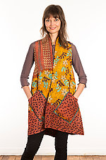 Kantha A-Line Vest #7 by Mieko Mintz  (Size 0 (0-6), One of a Kind Vest)